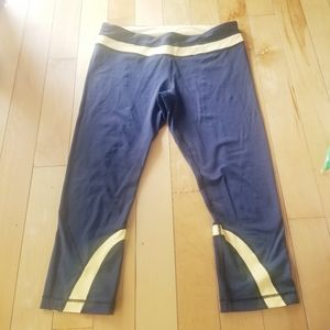 Lululemon Navy and yellow pant with mesh